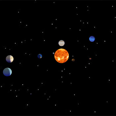 Image version of the solar system project